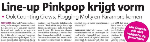 Screenshot aus der PDF-Ausgabe der niederländischen Zeitung Metro vom 14.Januar 2008, S.12