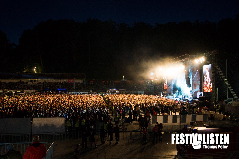 Volles Haus, begeisterte Festivalisten auch beim Rock am See 2014? Foto: Thomas Peter