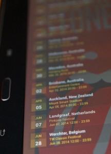 Die Smartphone App legts offen: The Rolling stones tatsächlich beim Pinkpop 2014