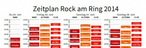 Rock am Ring Zeitplan 2014