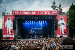 Frontalblick auf die Hauptbühne des Kosmonaut 2015, Foto: Steffen Neumeister