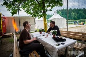 Steffen im Interview mit Felix von Adam Angst beim Kosmonaut 2015, Foto: Steffen Neumeister